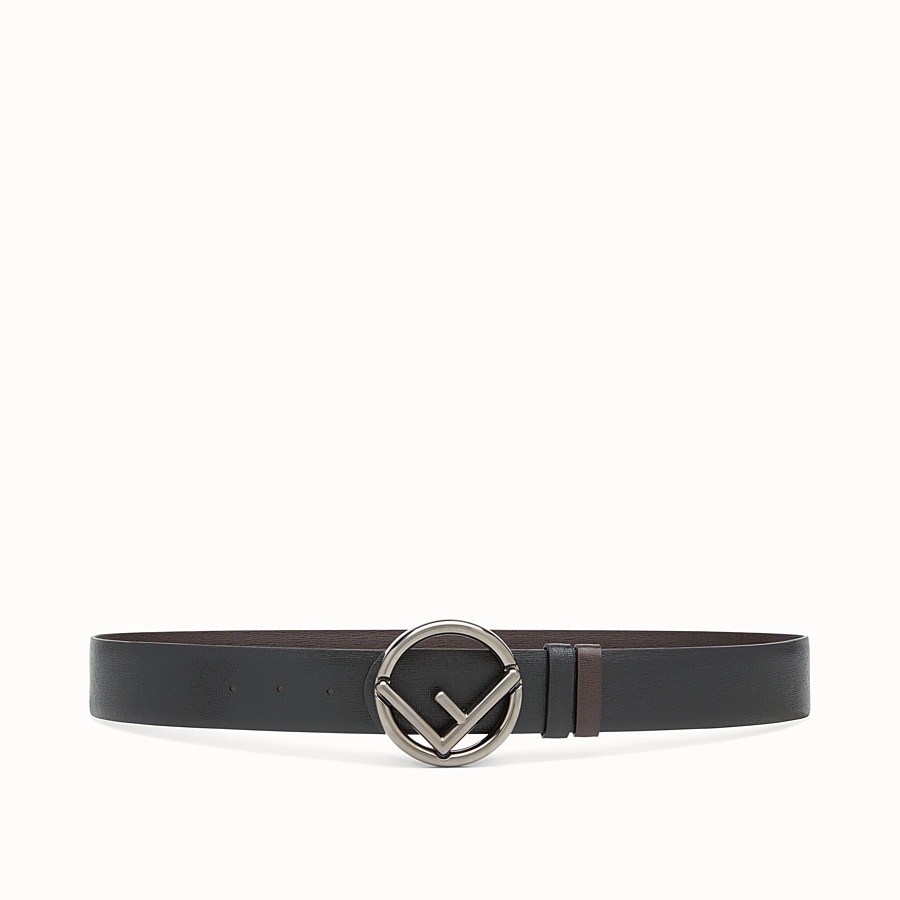 Belt - Black and brown leather belt