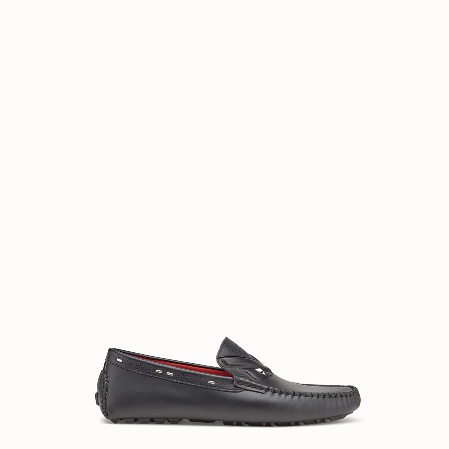 Loafers - Black leather drivers
