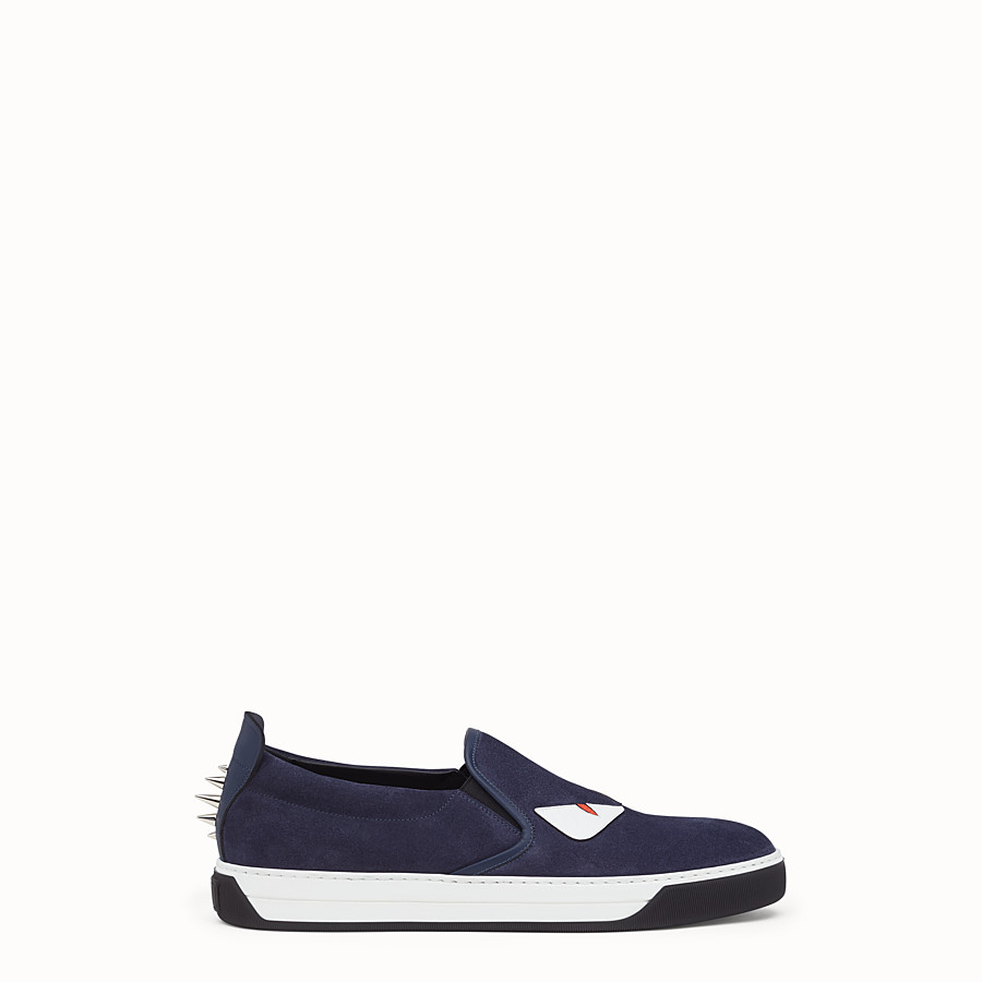 Sneaker - cosmos blue leather slip-on