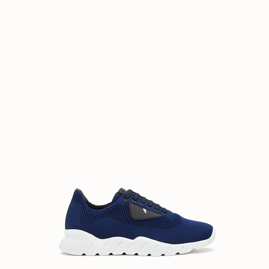 Sneakers - Blue fabric running shoes