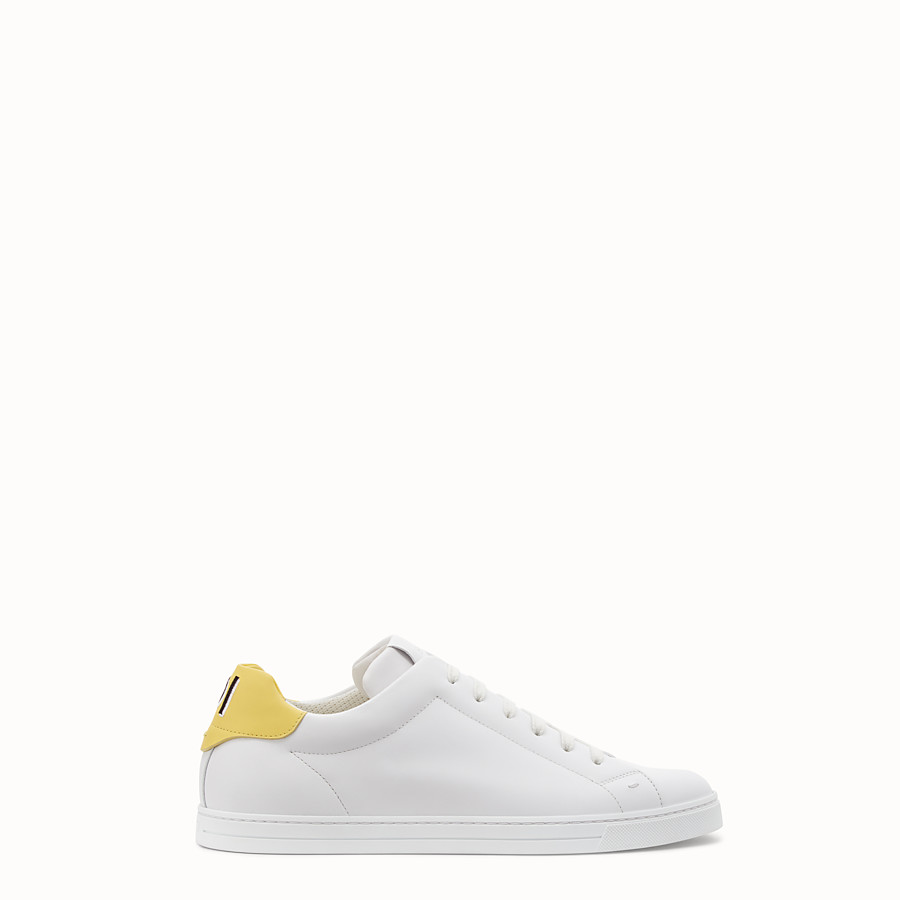 Sneakers - White leather low-tops