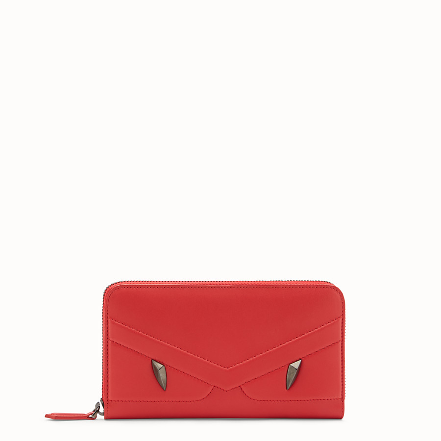 Zip-Around - Red leather wallet