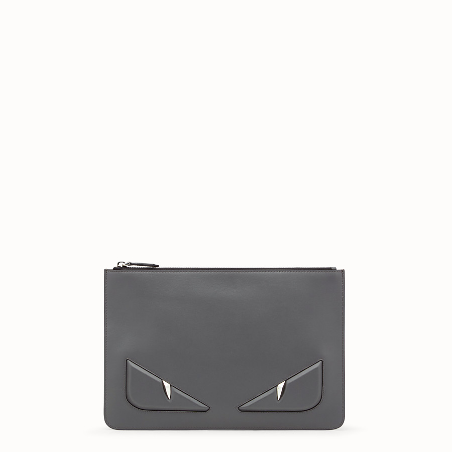 Pouch - Grey leather pouch