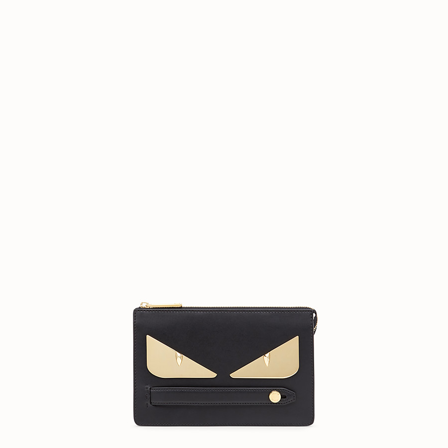 Clutch - Black leather pochette