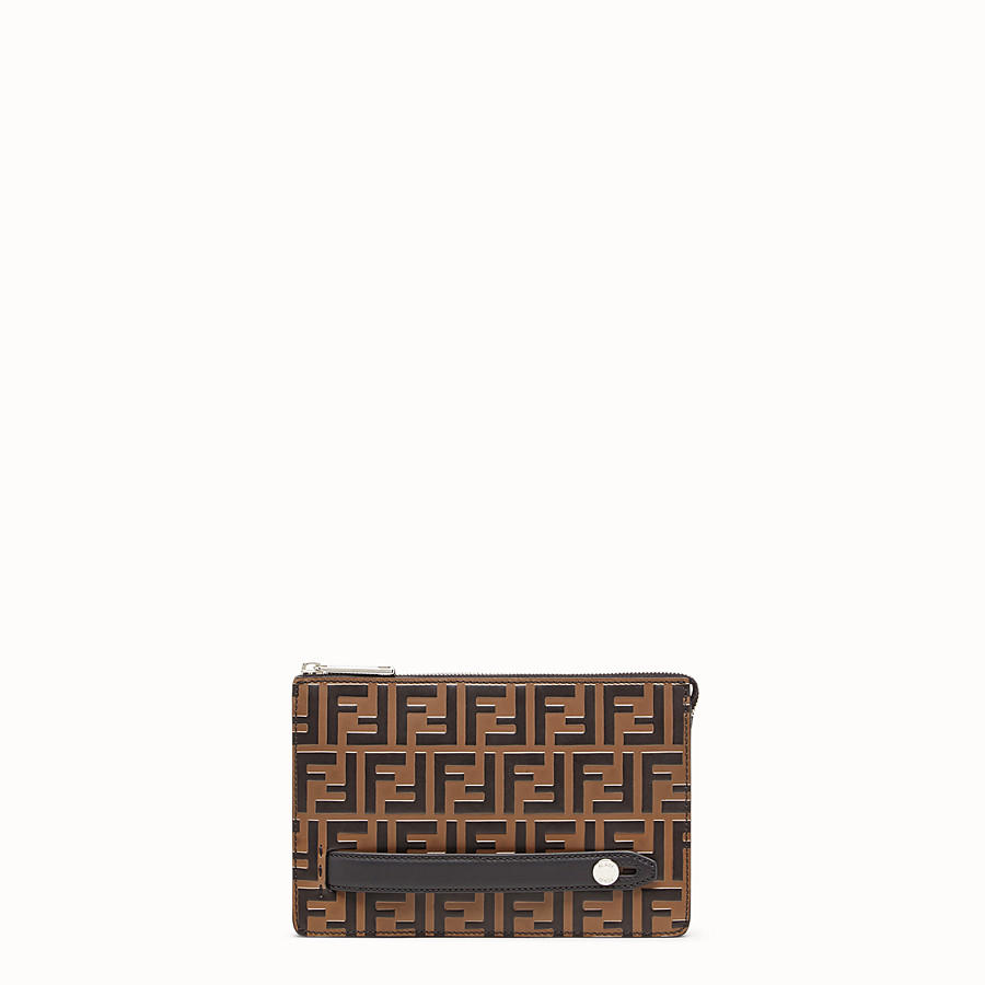 Clutch - Brown leather pochette