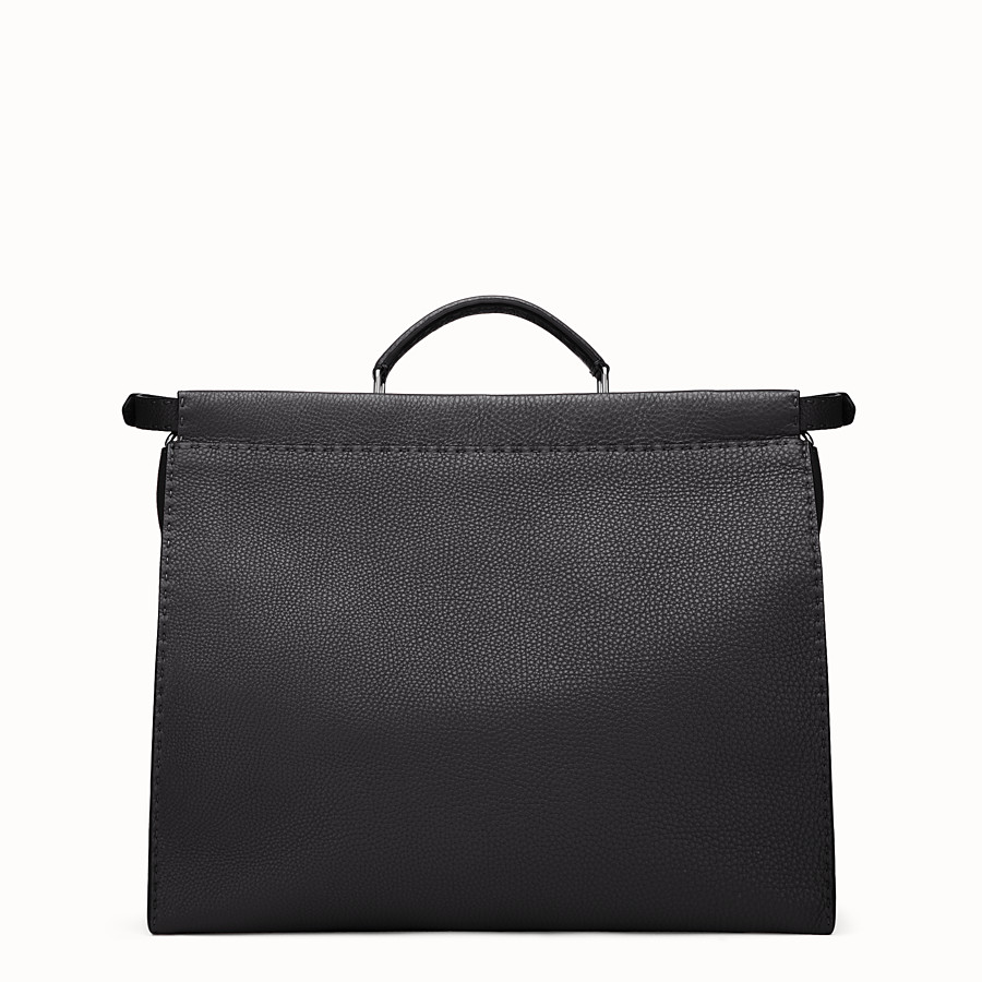 Peekaboo Selleria - in black Roman leather