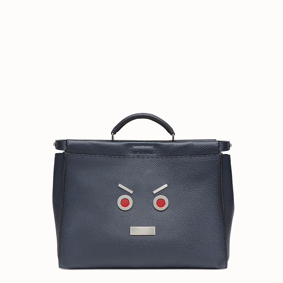 Peekaboo - in blue Roman leather with Fendi Faces