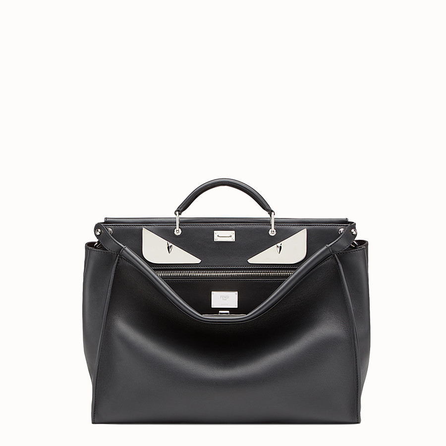 Peekaboo - in black leather with metal Bag Bugs
