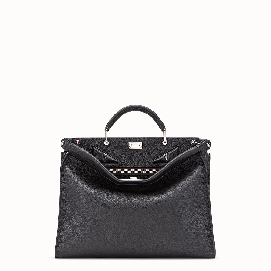 Peekaboo Fit - Black leather bag