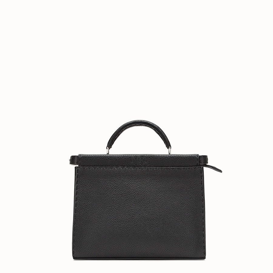 Mini Peekaboo Fit - Black leather bag