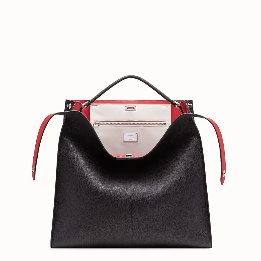 Peekaboo X-Lite Regular - Black leather bag
