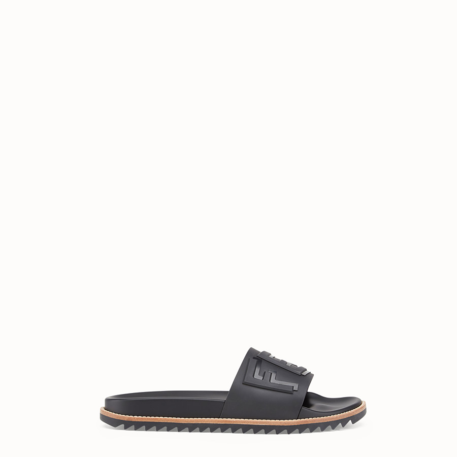 Slides - Black rubber slides
