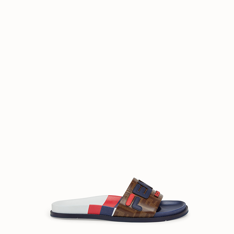 Slides - Multicoloured rubber Fussbet sandals