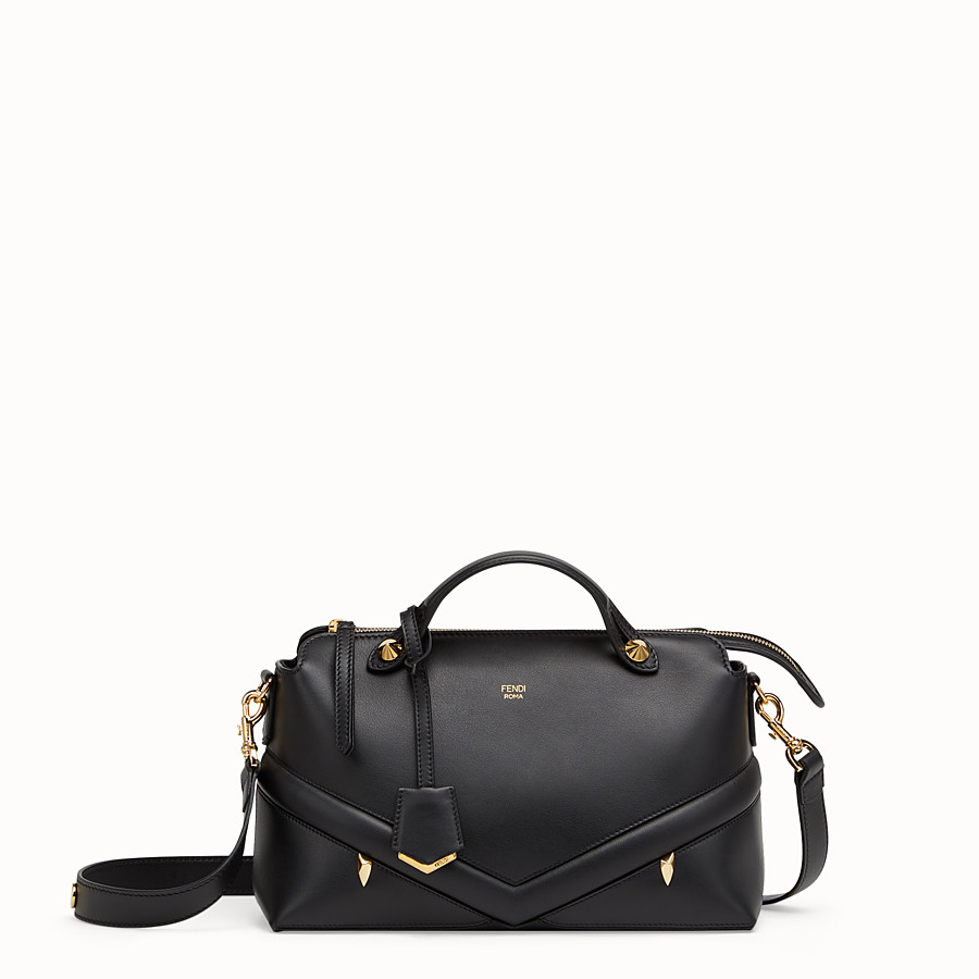 By The Way Regular - Black leather Boston bag