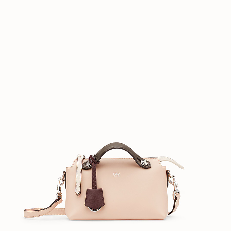 By The Way Mini - Pink leather Boston bag
