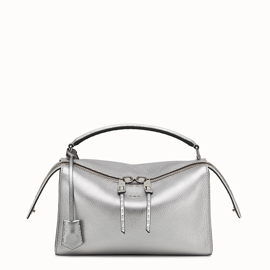 Lei Selleria - Silver Roman leather Boston bag