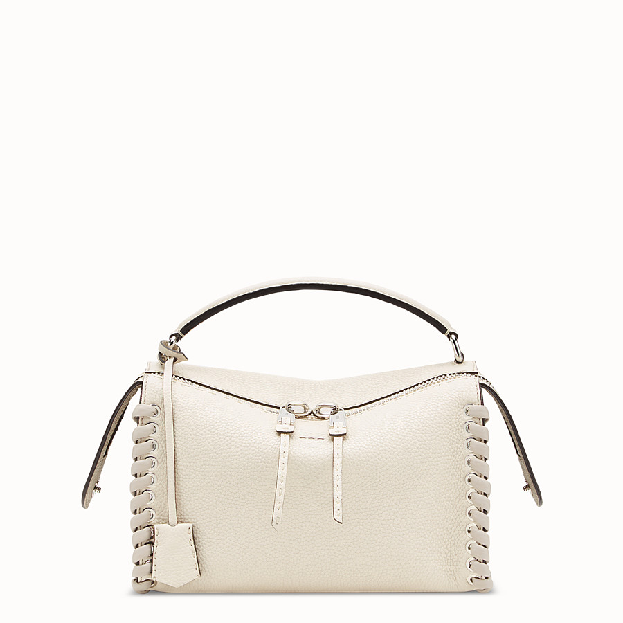 Lei Bag Selleria - White leather Boston bag
