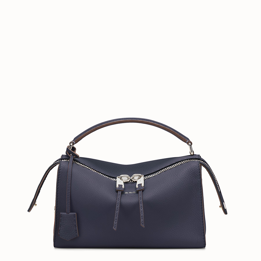 Lei Bag Selleria - Blue-coloured Roman leather Boston bag