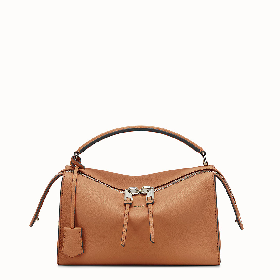 Lei Bag Selleria - Toffee Roman leather Boston bag