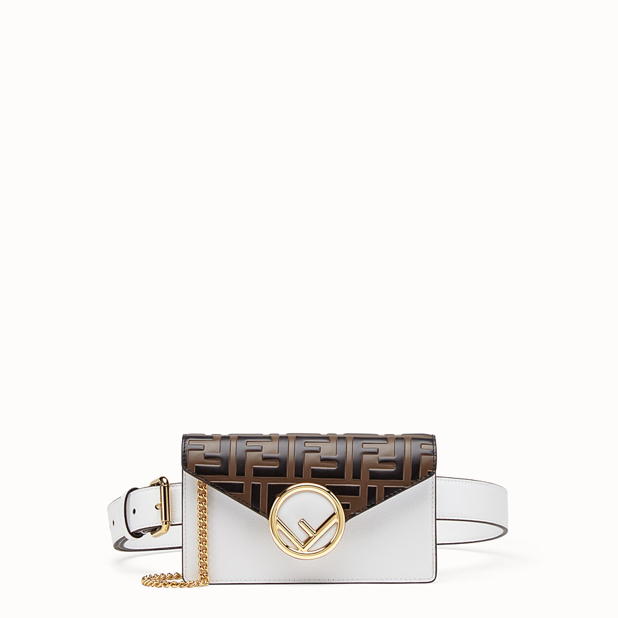 Belt Bag - White leather belt bag