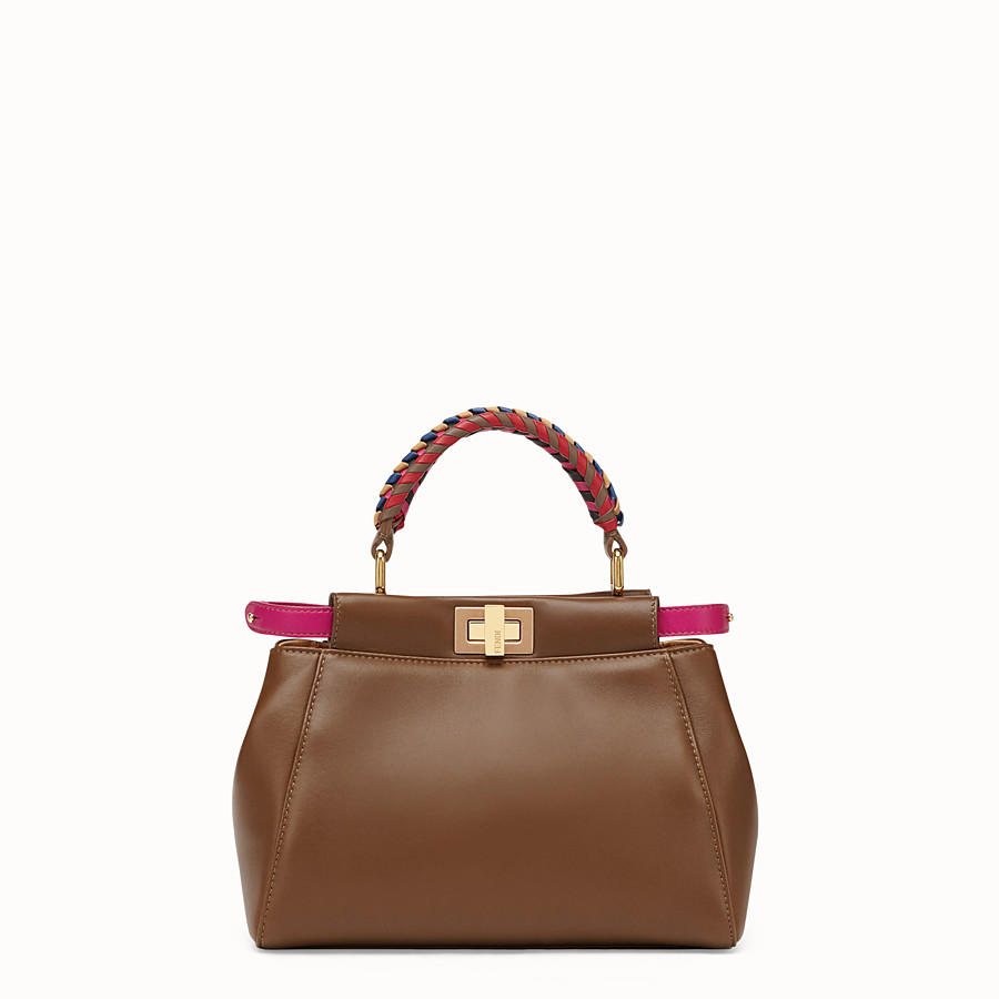 Peekaboo Mini - Brown leather bag