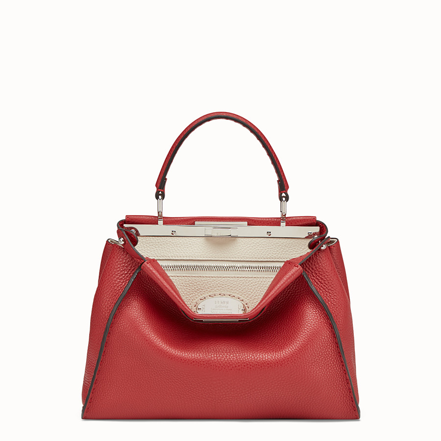 Peekaboo Regular - Red leather bag