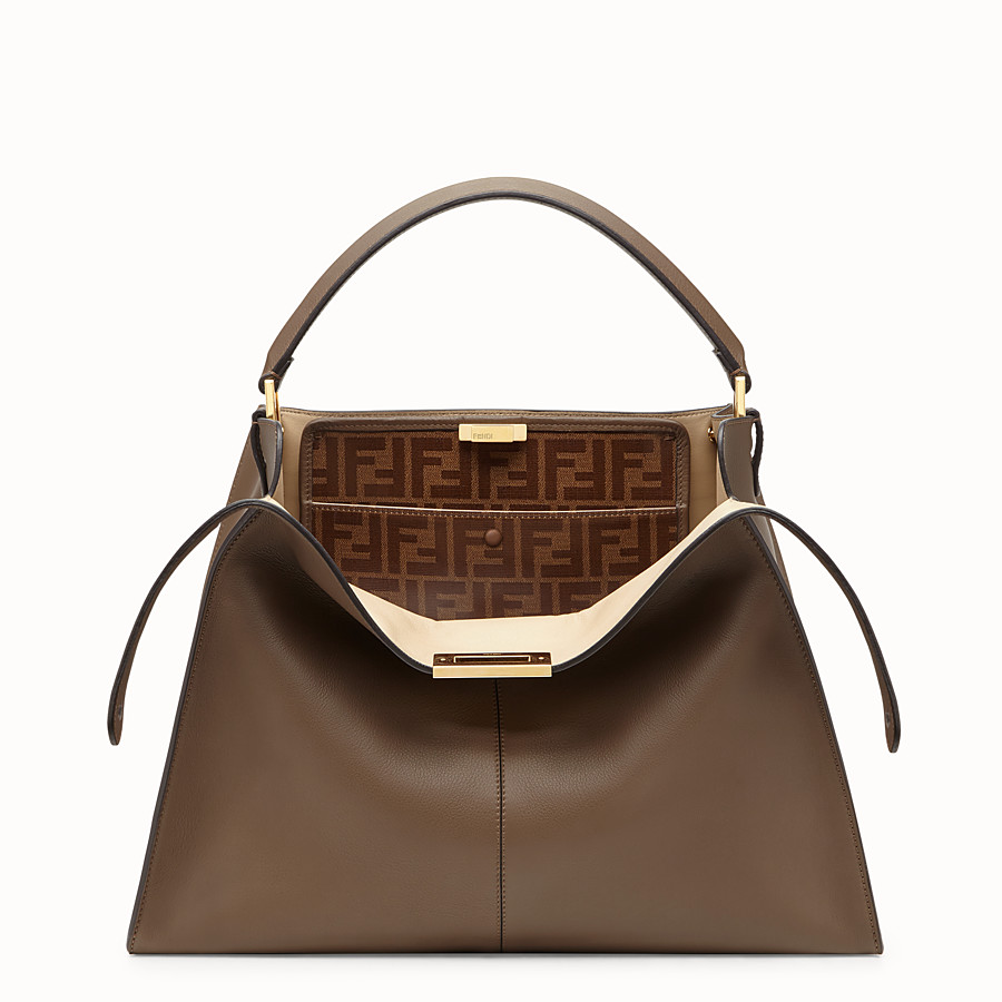 Peekaboo X-Lite - Brown leather bag