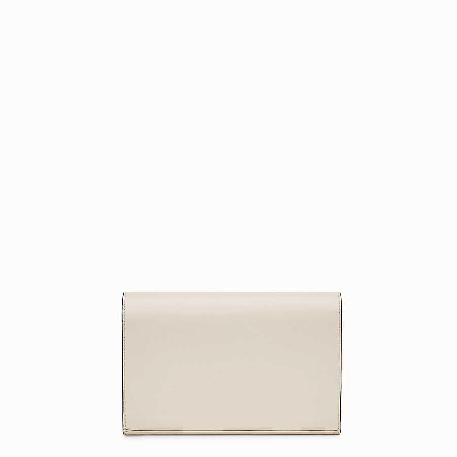 Wallet On Chain - White leather mini-bag