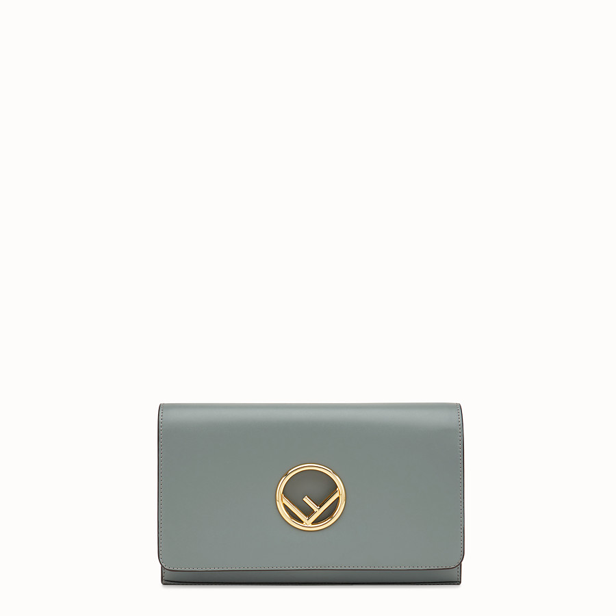 Wallet On Chain - Green leather mini-bag