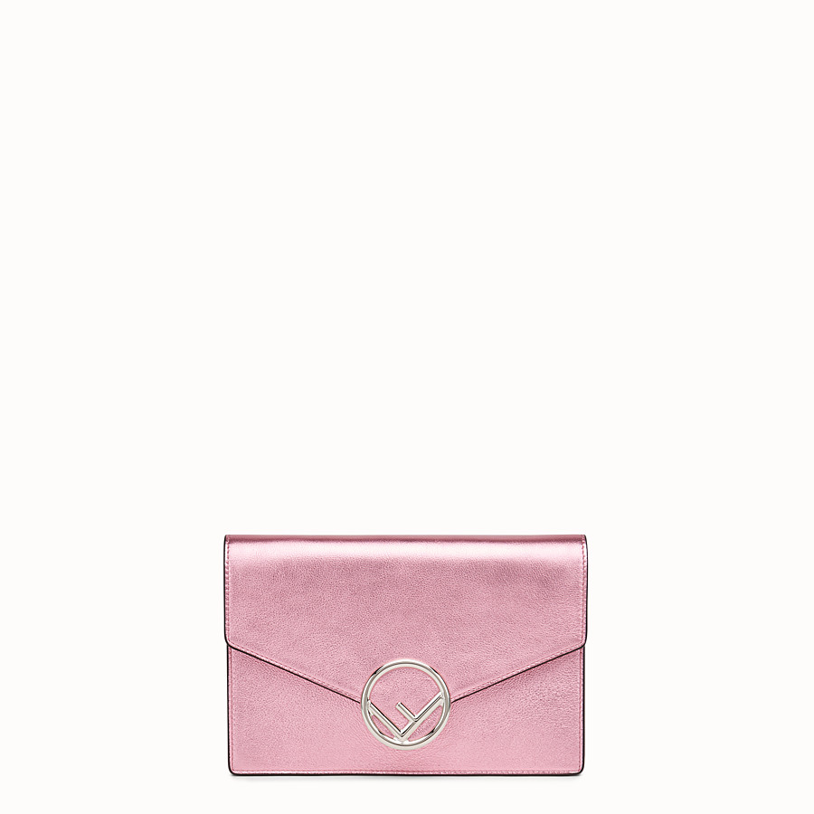 Wallet On Chain - Pink leather mini-bag