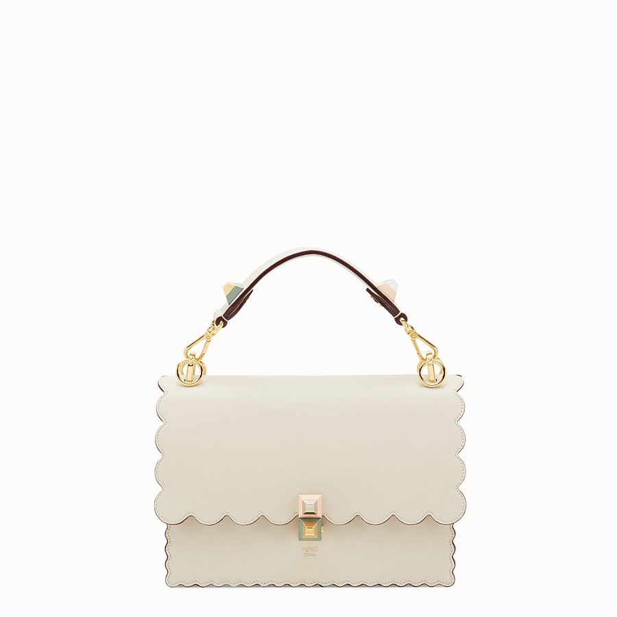 Kan I - White leather bag