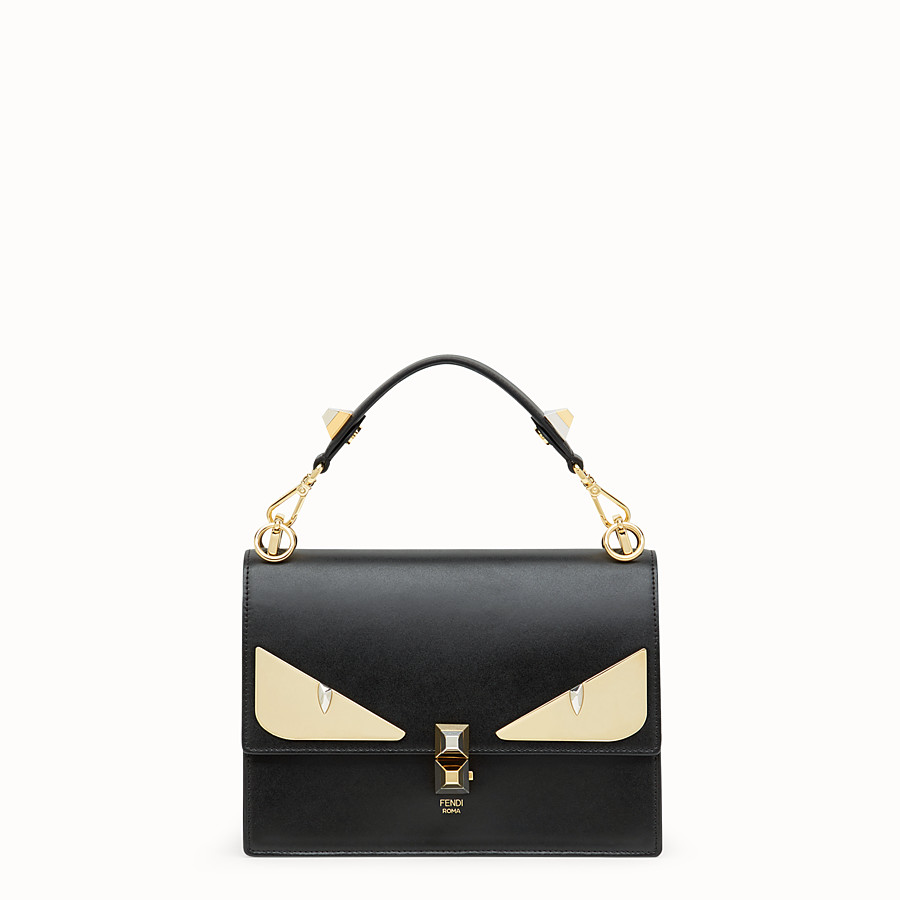 Kan I - Black leather bag