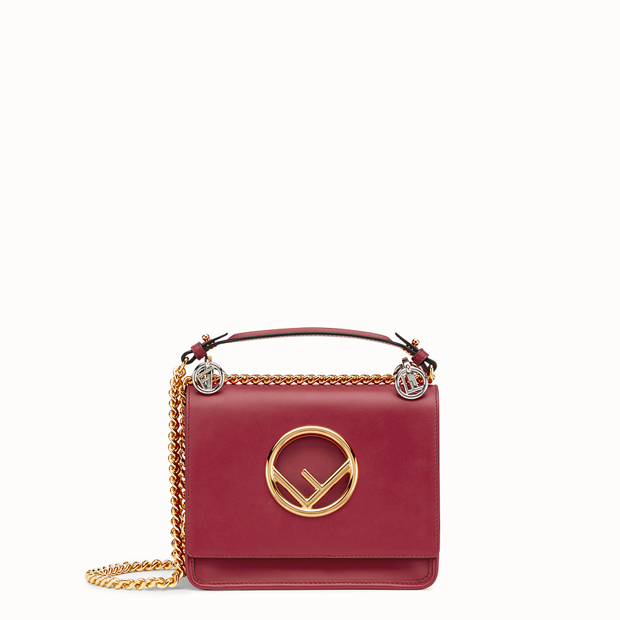 Kan I F Small - Red leather mini-bag