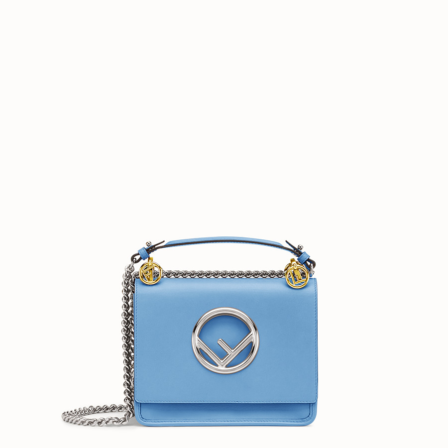 Kan I F Small - Light blue leather mini-bag