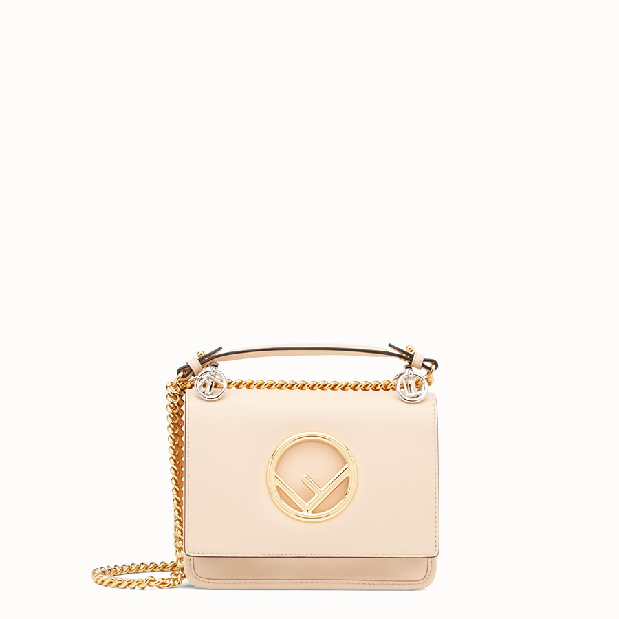 Kan I F Small - Pink leather mini-bag