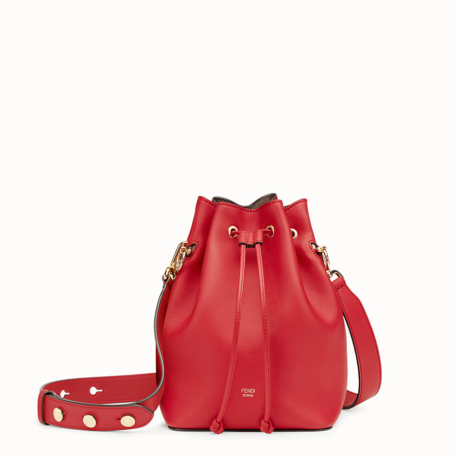 Mon Tresor - Red leather mini-bag
