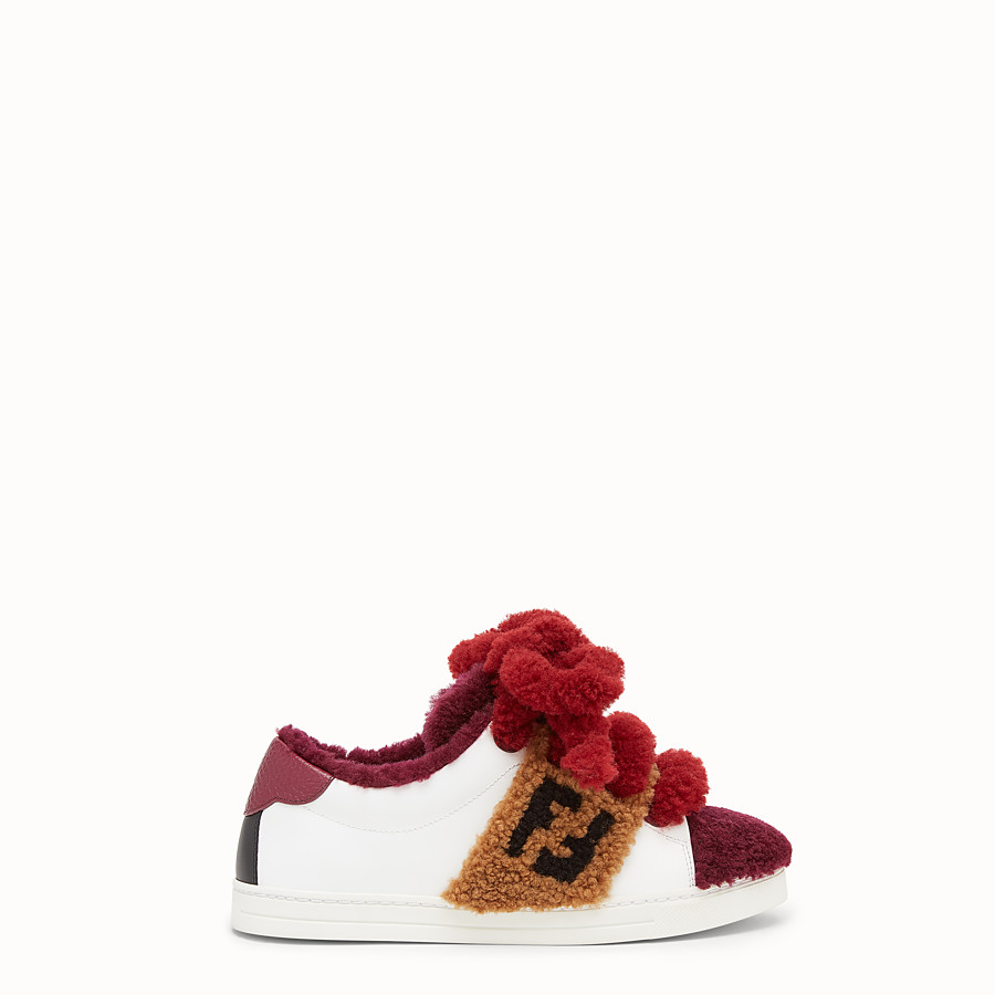 Sneakers - Multicolour leather and sheepskin sneakers