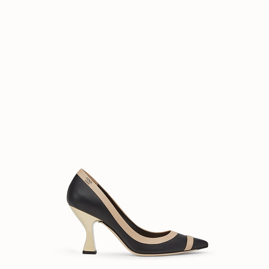 Court Shoes - Black nappa leather court shoes