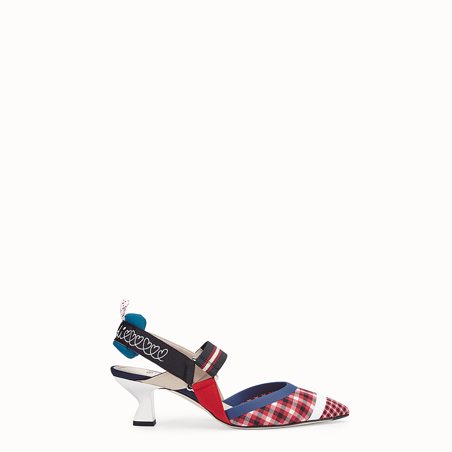 Court Shoes - Multicolour wool slingbacks
