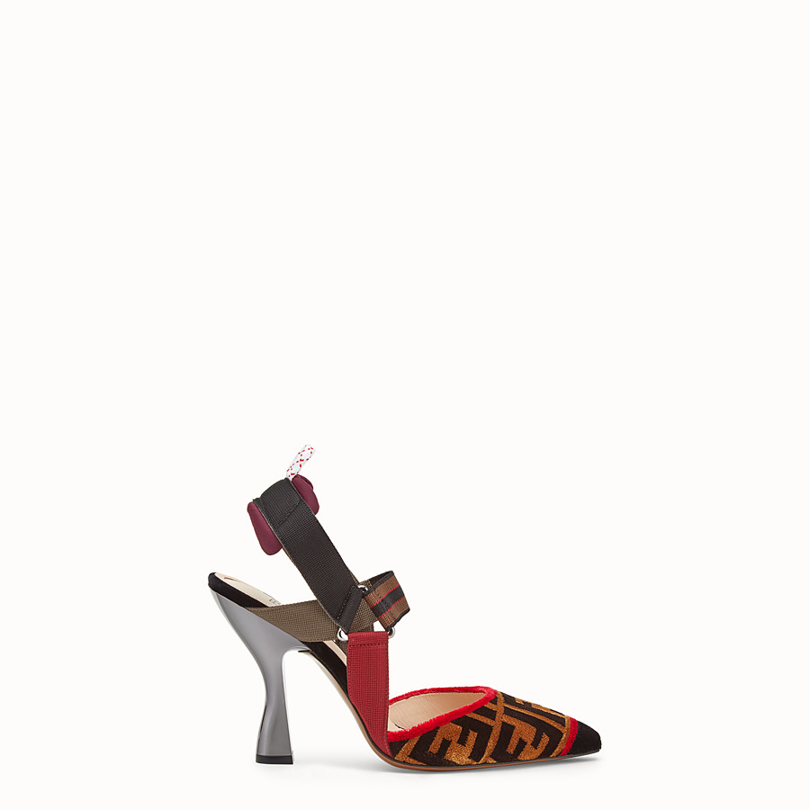 Court Shoes - Multicolour fabric slingbacks
