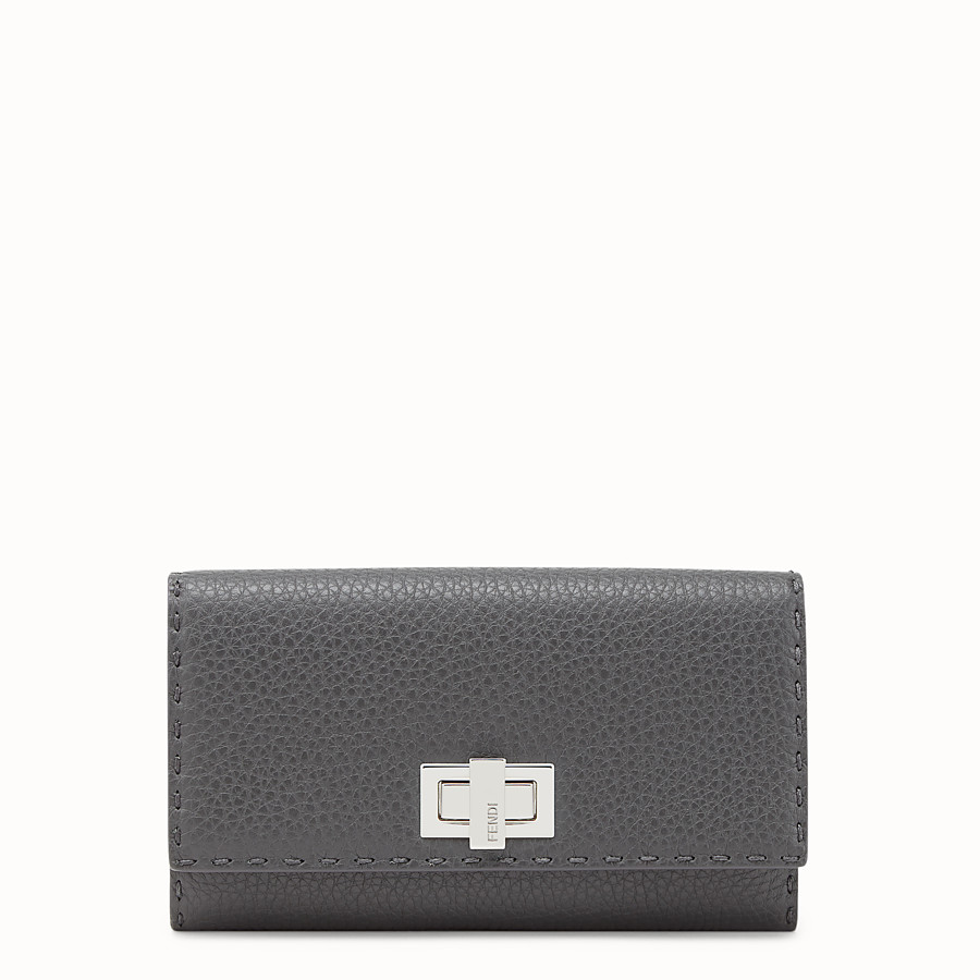 Continental - Grey leather wallet
