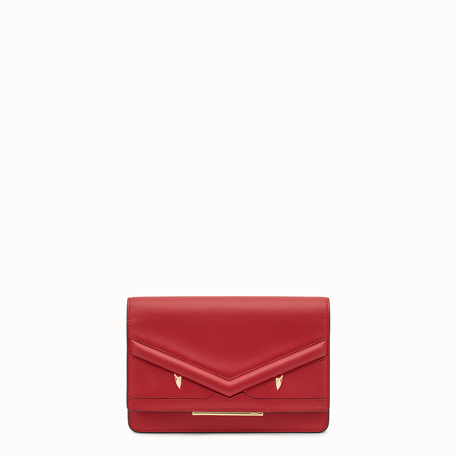 Wallet On Chain - Red leather mini-bag