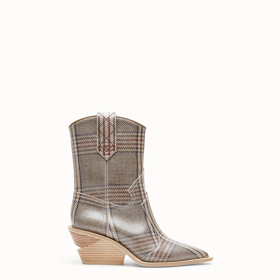 Boots - Multicolour fabric ankle boots