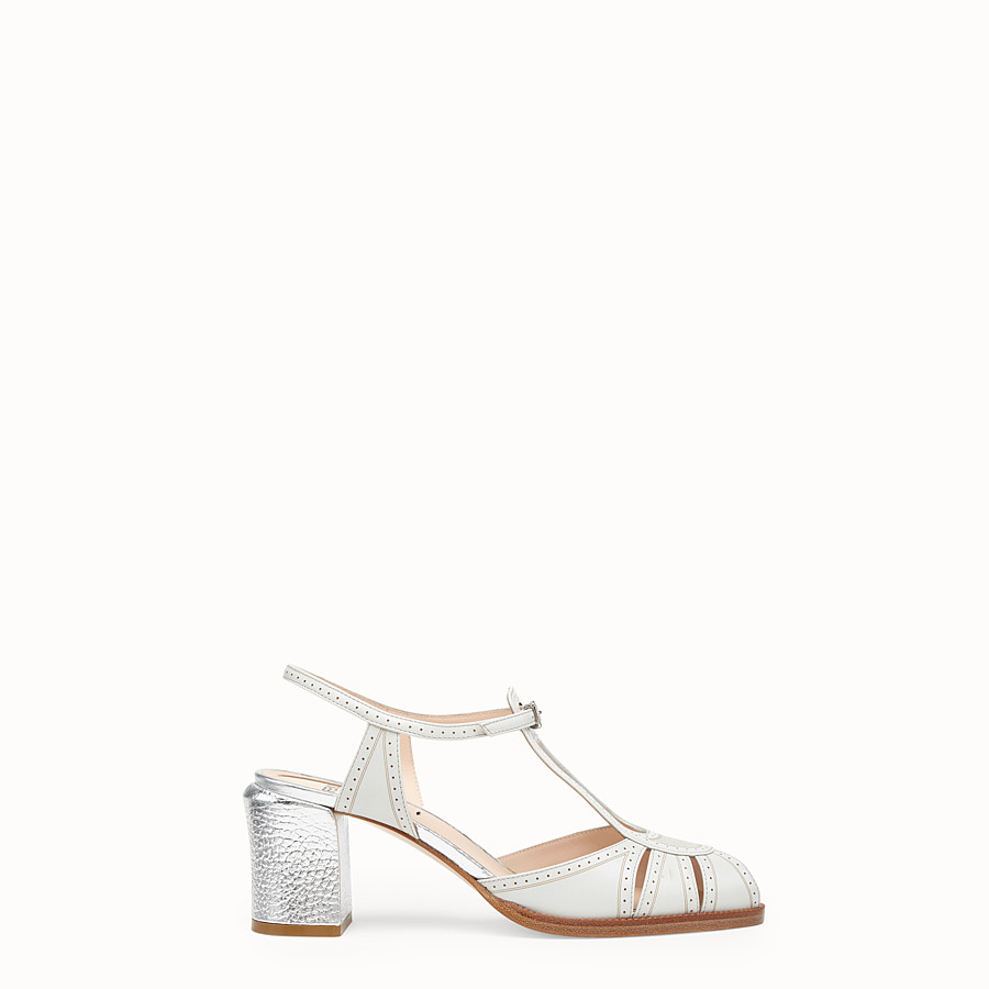 Sandals - Grey leather sandals