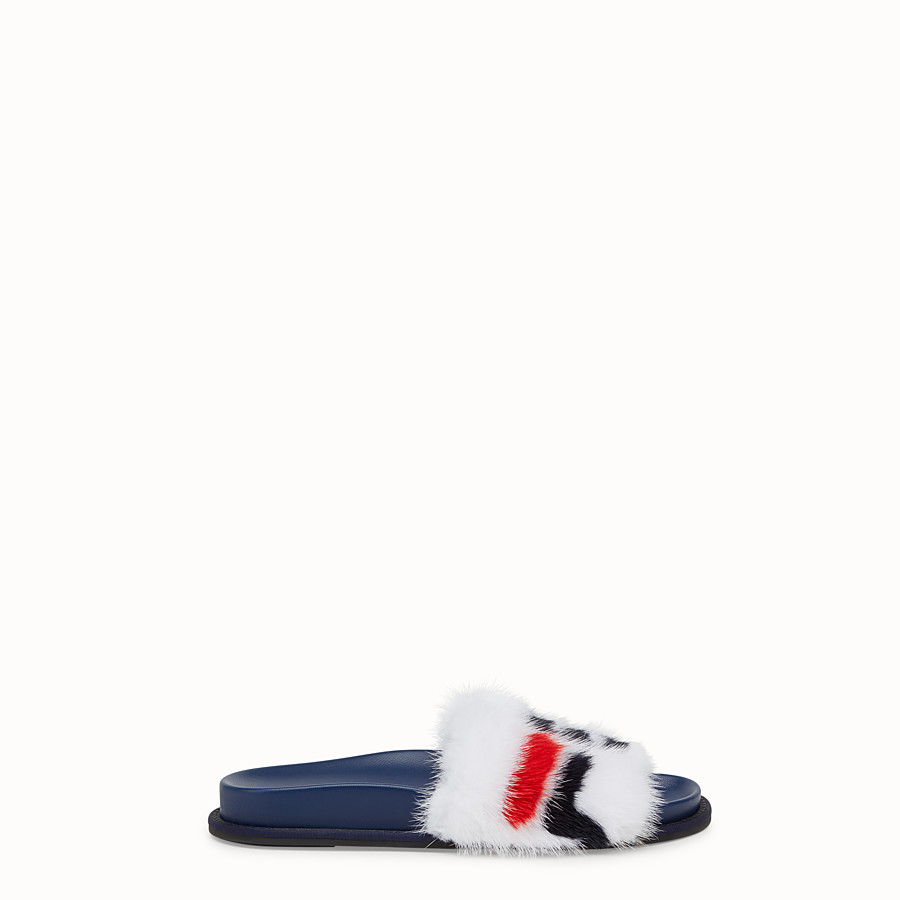 Slides - White mink slides