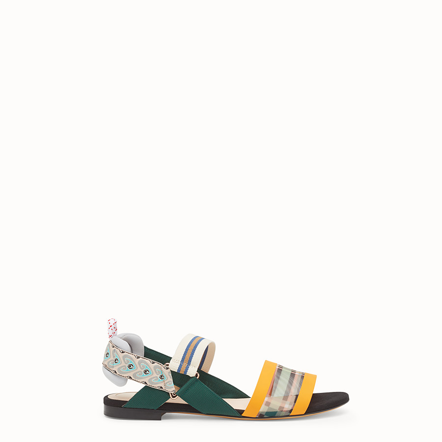 Sandals - Multicolour technical mesh flats