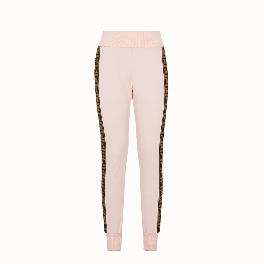 Trousers - Pink fabric tracksuit trousers