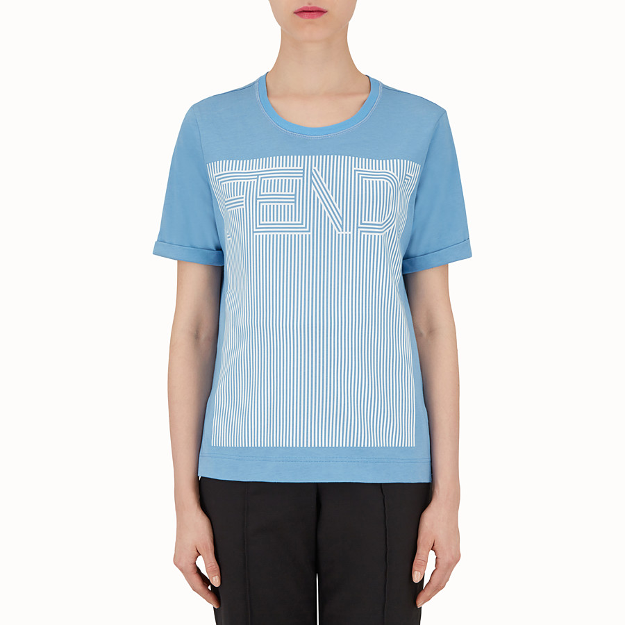 T Shirt - Light blue cotton T-shirt
