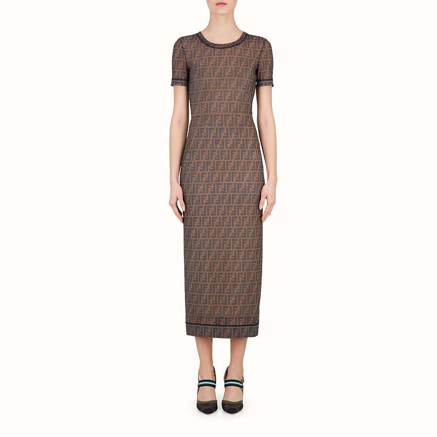 Dress - Multicolour technical mesh dress