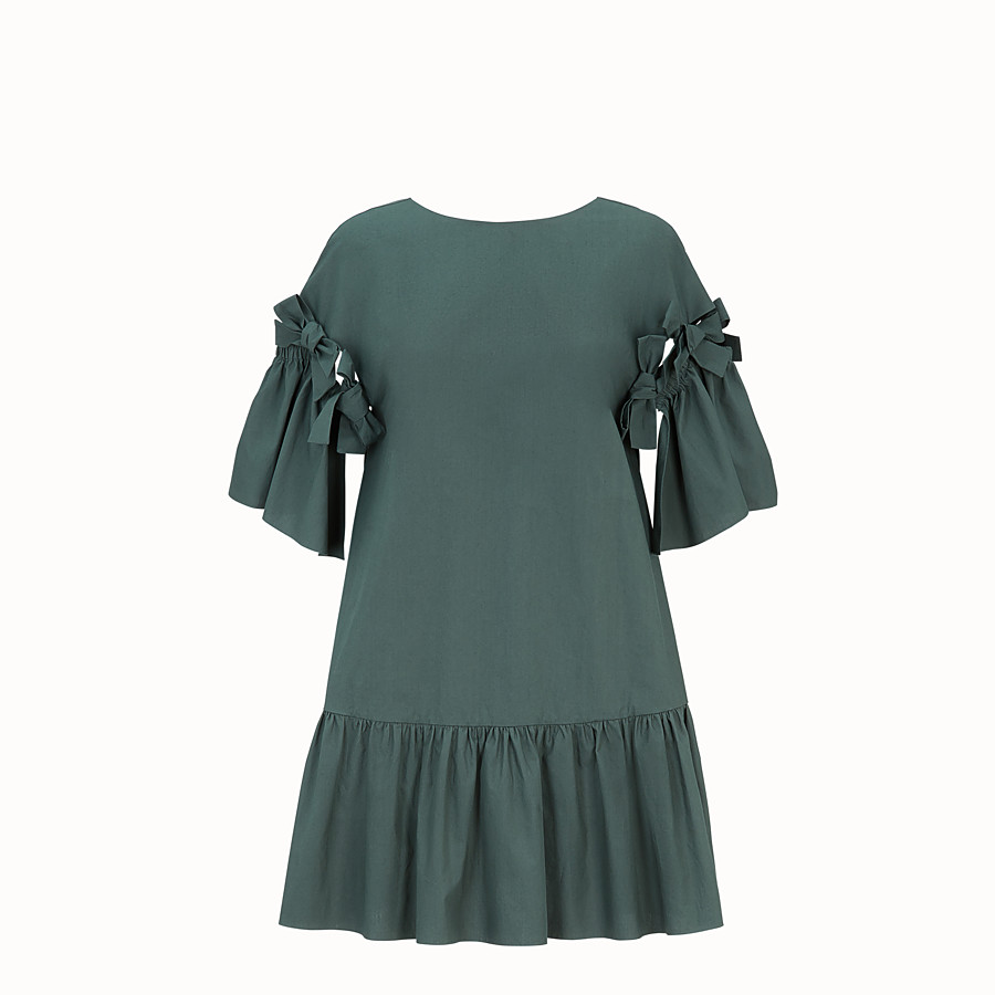 Dress - Green cotton dress